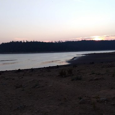 Dusk on the Shores of Clear Lake- Clear Lake Campground