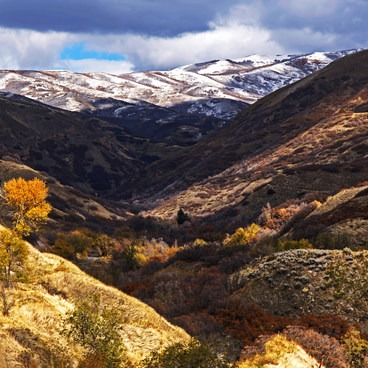 Looking up City Creek Canyon in the fall- City Creek Canyon Road Cycling