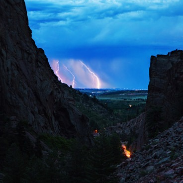 Thunder storm from the trail at Eldorado Canyon- Fowler Trail