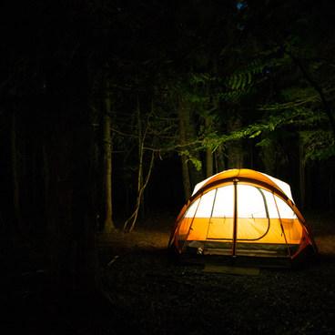 Site 43 at night- Trillium Lake Campground
