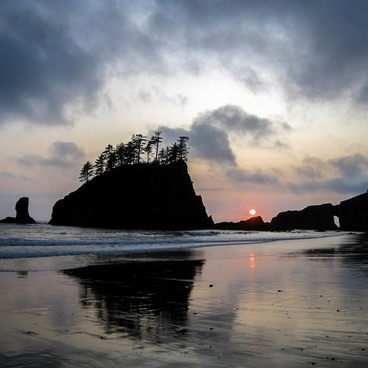 Snag a camping permit and witness a sunset at Second Beach, La Push- La Push, Second Beach