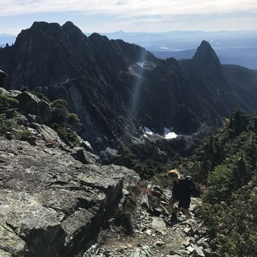 Nearing the summit- Golden Ears Summit Hike
