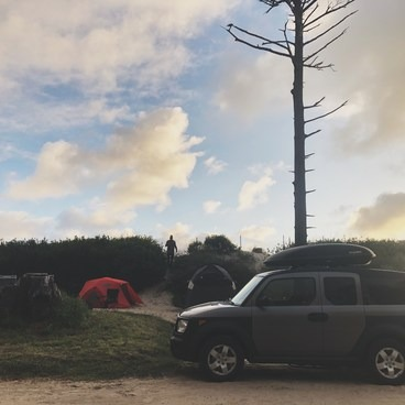 One of the most epic camp sites on the coast!- Cape Lookout State Park