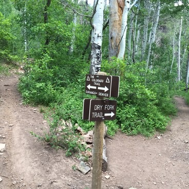 Intersection on the Colorado Trail- Junction Creek Campground