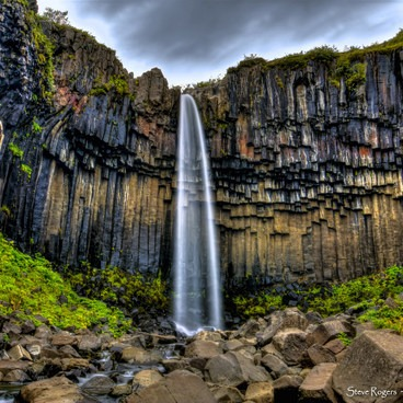 The Black Waterfall- Svartifoss and Skaftafellsjökull