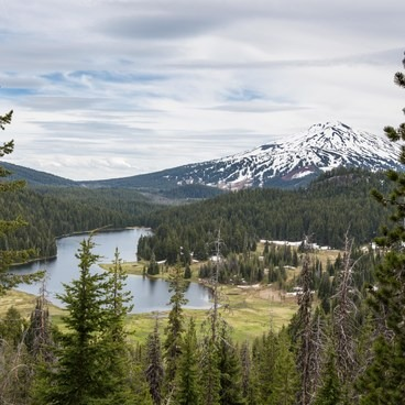 The view of Todd Lake from the hillside. - Todd Lake Hike