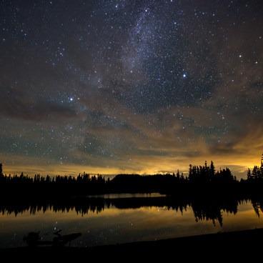 Milky Way over Scout Lake.- Jefferson Park via Whitewater Creek Trail