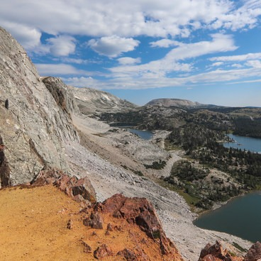 Fantastic views on the Medicine Bow Peak Loop ascent traveling clockwise.- Medicine Bow Peak Loop