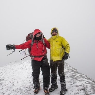 Bummed we had no sunrise or mountain views at the summit, be at least we finally conquered this volcano!- Mount St. Helens Hike: Monitor Ridge Route
