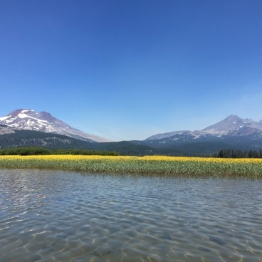 Water was never more than 2 feet deep where we paddled.- Sparks Lake