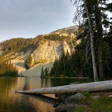 Indigo Lake in the evening.  2018-08-18- Indigo Lake Trail