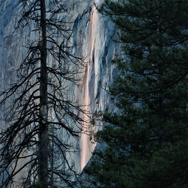 Horsetail Fall. 2-21-16- Horsetail Fall, Firefall
