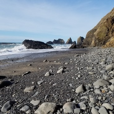 Oceanside beach past the tunnel- Oceanside + Three Arch Rocks National Wildlife Refuge