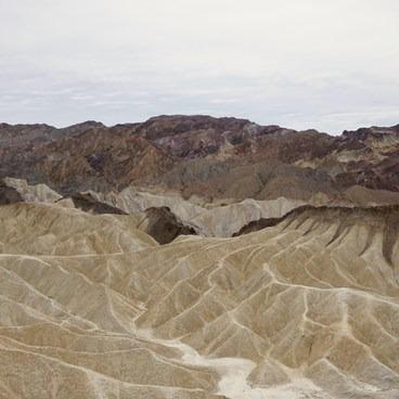 Sediment deposits seen from the overlook- Zabriskie Point
