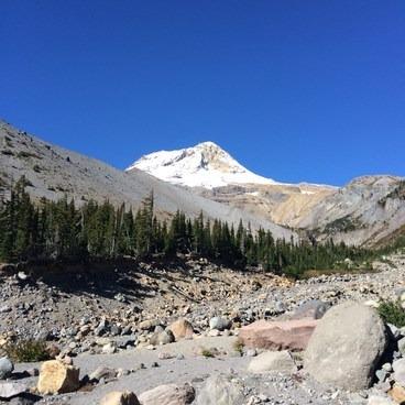 Looking at Mt. Hood from Newton Creek- Gnarl Ridge Hike