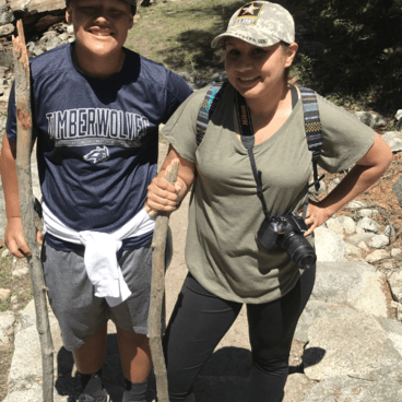 Wife and Son- Tokopah Valley Trail
