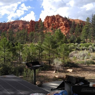View from camp site 35- Red Canyon Campground