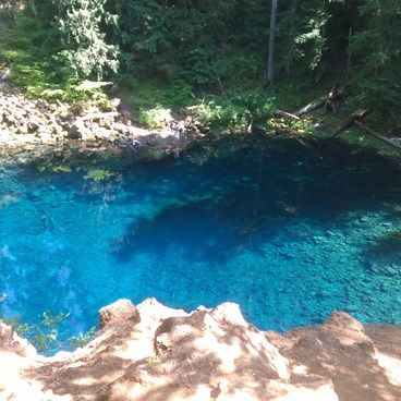 Blue Pool from above- McKenzie River Trail: Carmen Reservoir to Tamolitch Pool