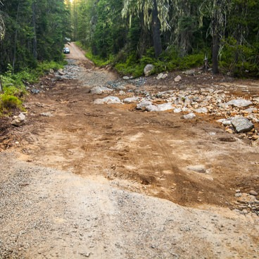 Washed out road- Mount Adams: High Camp via Killen Creek