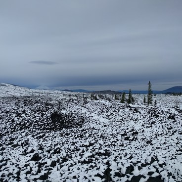View from Dee Wright in October.- Lava River National Recreation Trail