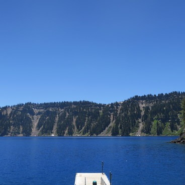 Crater Lake from Wizard Island.- Crater Lake Boat Tour