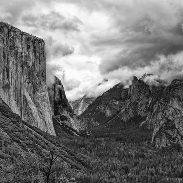 Yosemite Valley, above Tunnel View- Tunnel View