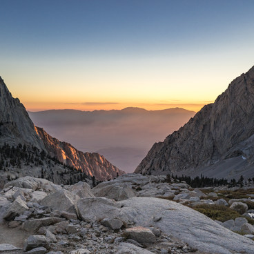Sunrise on Mount Whitney- Mount Whitney Hike via Whitney Portal