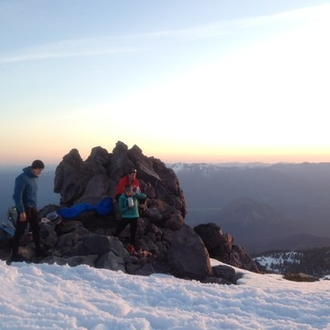 Group at 10,000 feet- Mount Shasta: Avalanche Gulch