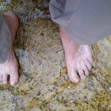 Soaking my feet in Hermit Creek- Hermit Trail