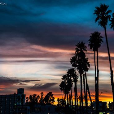 Sunset along The Santa Cruz Beach Boardwalk- Santa Cruz Beach Boardwalk + Main Beach