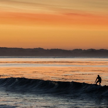 Surfing the sunrise at Opal Cliffs - Opal Cliffs