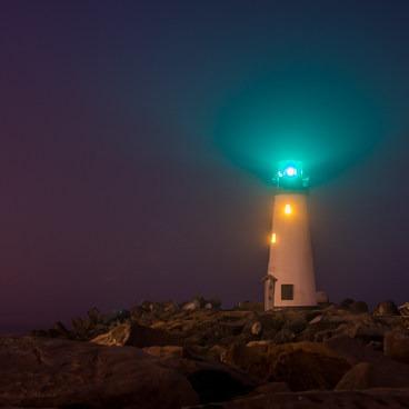 Foggy morning at the Walton Lighthouse- Seabright Beach