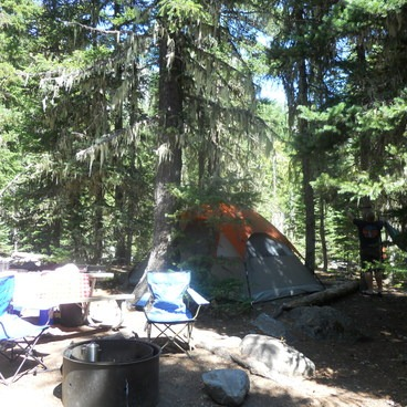 Good balance of shade, sun, listen to river and close to rest rooms and wash sink. Perfect spot!!- White River Campground