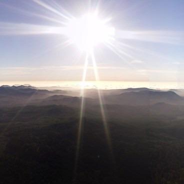 Pano View toward the Oregon coast at the peak!- Saddle Mountain