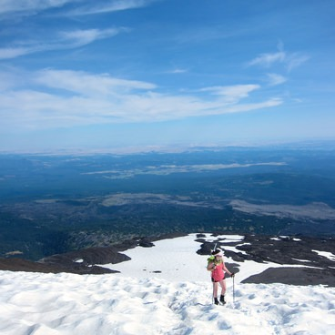 Approaching the false summit- Mount Adams, South Climb