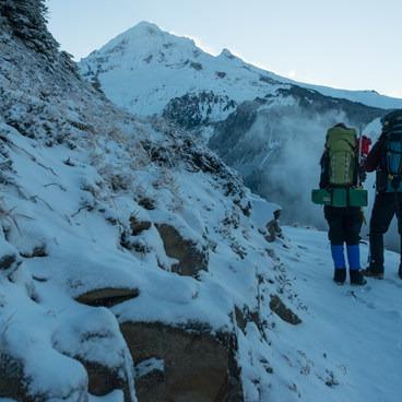 Tyson + Emily Gillard.- Mount Hood, Sandy Glacier Ice Caves