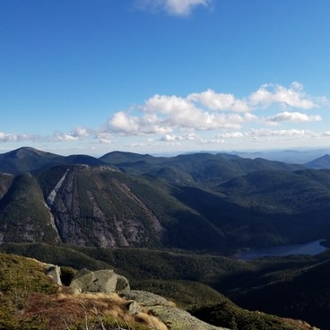 View of Colden's trap dyke from Algonquin.- Mount Colden via the Trap Dyke