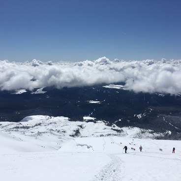 Maybe 2/3 of the way up- Mount St. Helens: Worm Flows Snowshoe