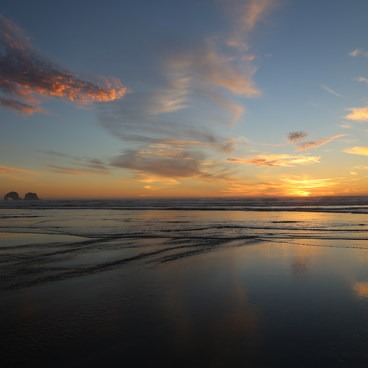 Fall Sunset at Rockaway Beach- Rockaway Beach