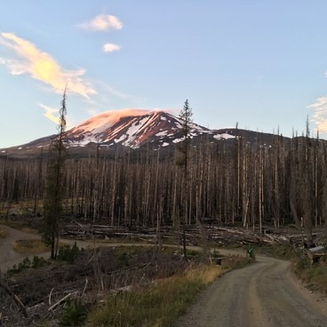 Adams at dusk- Mount Adams: South Climb
