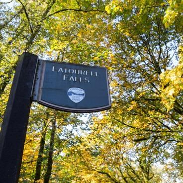 Fall colors at Latourell Falls- Latourell Falls Hike