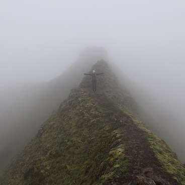 Munra Point in the fog April 2017- Munra Point Hike