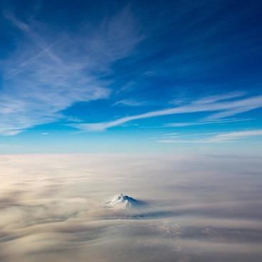 Mount Jefferson from the air- Jefferson Park Hike via Park Ridge