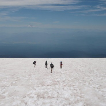 Infinity snow field!- Mount Adams: South Climb