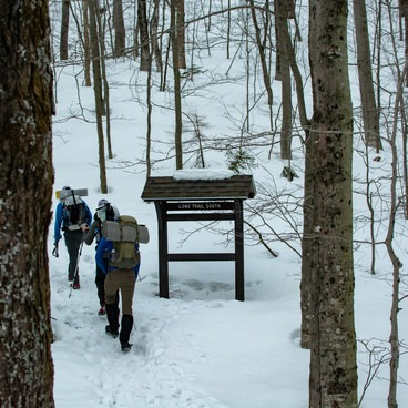 The road is closed in the winter months. A short hike up the road to the Long Trail trailhead is required. Parking can be found near the snow gate.- Taft Lodge