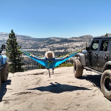 At the overlook- Rubicon Trail