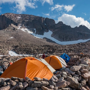 Camping at the Boulderfield can really shorten the climb- Longs Peak: Keyhole Route