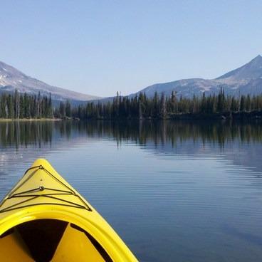 Kayaking north on Sparks Lake- Sparks Lake