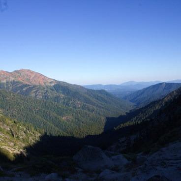 View from Alpine Lake down Stuart Fork- Alpine Lake