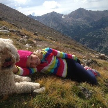 taking a rest after reaching the summit- Mount of the Holy Cross, North Ridge Route